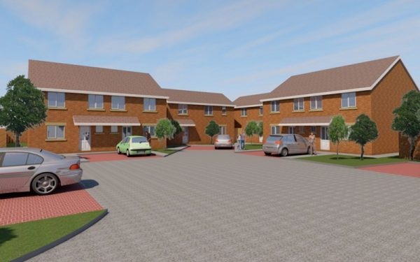 CGI image of High Park Road development in Churchtown, Southport