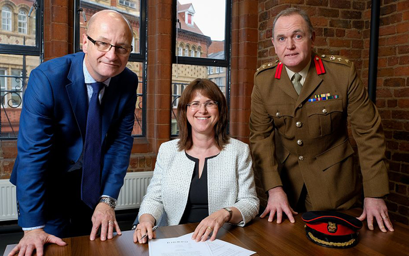 Onward signs the Armed Forces Covenant