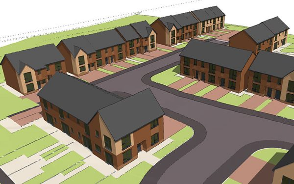 CGI image of proposed development in Mereside, Stalybridge