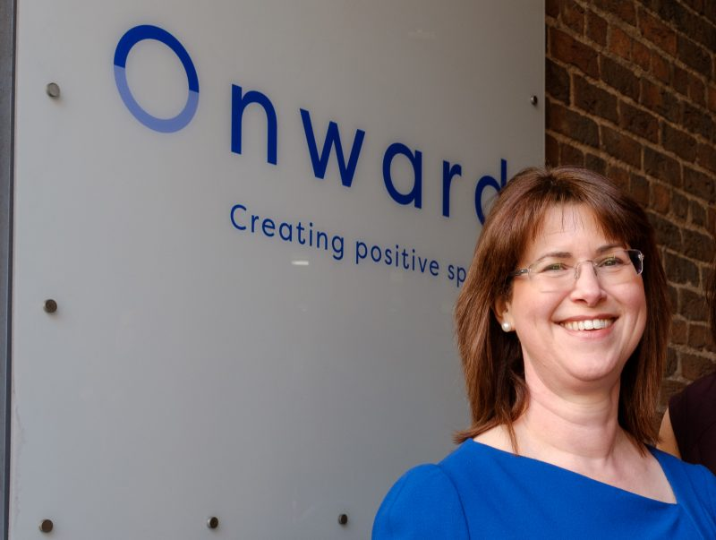 Bronwen Rapley, Chief Executive of Onward