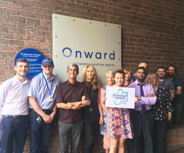 Onward staff announce launch of charity partnership with Alzheimer's Society