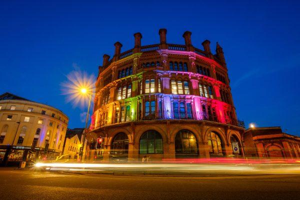 Hanover Street lightrs up for Pride 2018