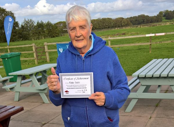 Hilda Collis completes charity skydive for Blesma