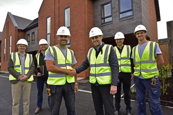 Work is completed on a new development on Kingsley Road, Liverpool