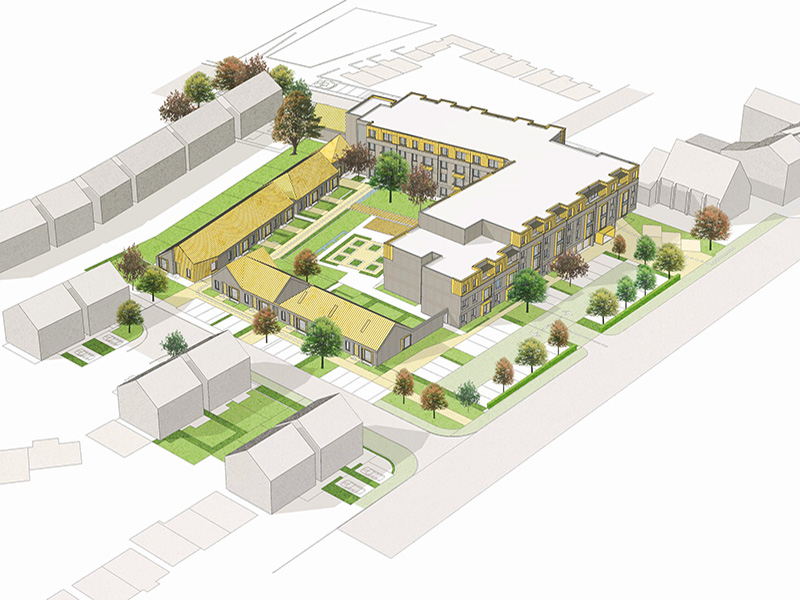 CGI image of the propesed Sevenoaks extra care scheme in Rock Ferry, Wirral