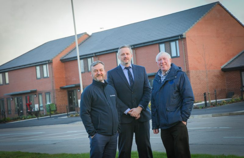 Cllr George Davies visits new affordable housing development in Prenton, Wirral