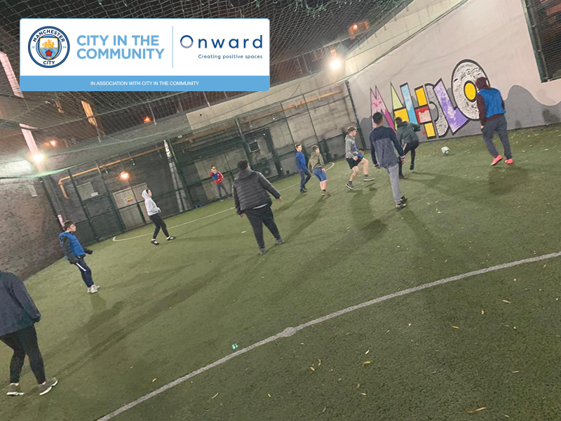 The City Kicks programme at Mahdlo Youth Zone in Oldham