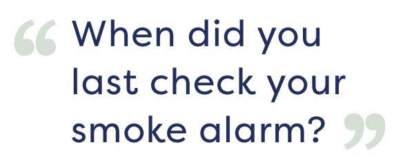 smoke alarm check