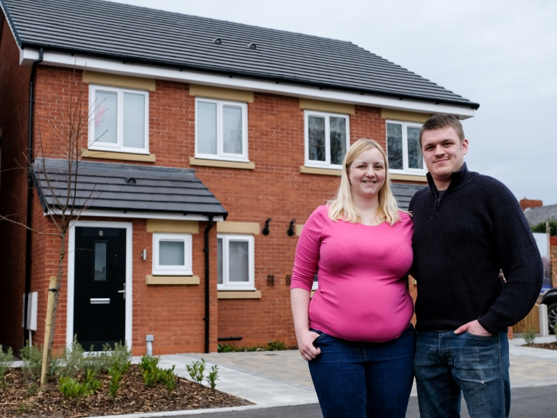 Gemma & Danny Lightfoot at their new home at High Park Grange, Southport