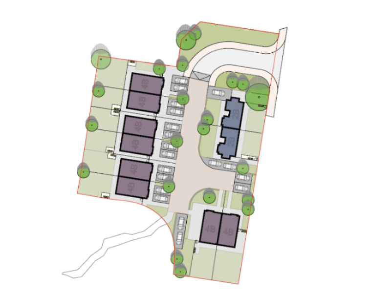 Sitemap of new Greenacres development in Beechwood