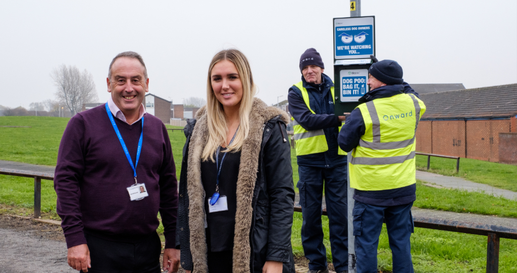 Onward staff dealing with anti-social behaviour